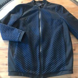 ZARA Basic Men's Blue Diamond Zip Jacket Small